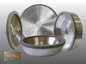 Vitrified Bond Diamond Wheel 6A2 11A2 12A2 on request for PCD PCBN ceramics